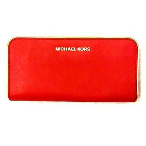 Michael Kors Red and Gold wallet